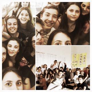 Selfie in classe
