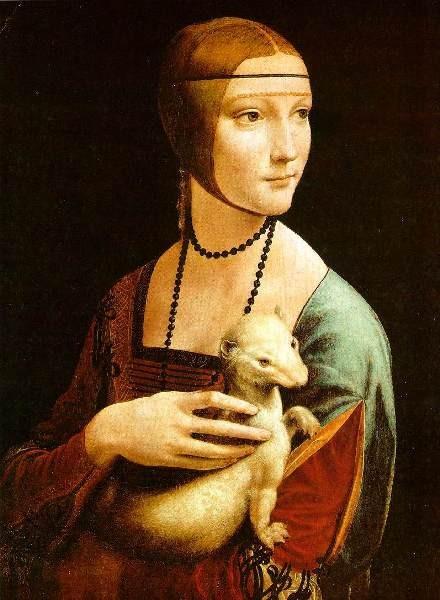 Cecilia Gallerani dipinta da Leonardo