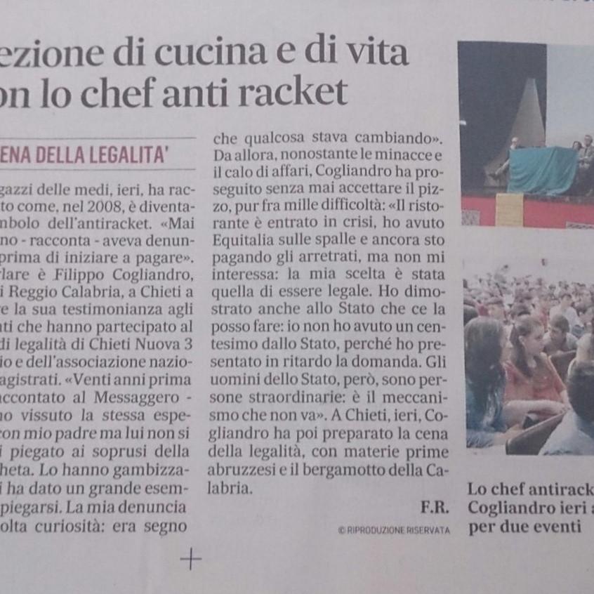 """L'Articolo del quotidiano """"Il Messaggero"""""""