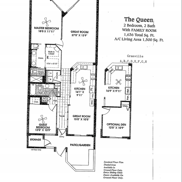 Queen with Family Room