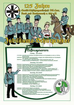 125 Jahre Schützenfest Plakat