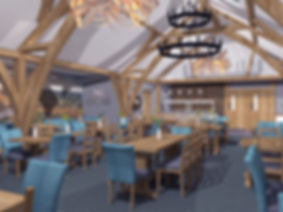 Dainton Oakroom Restaurant 3D vray visual