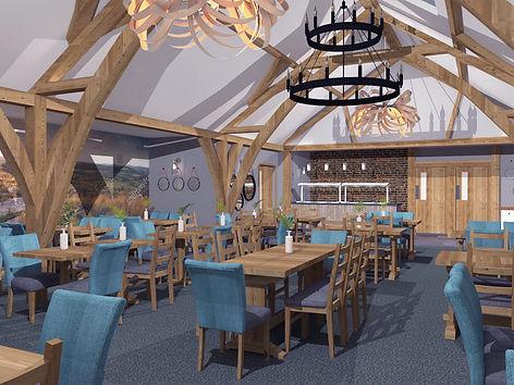Dainton Oakroom Restaurant 3D vray visual