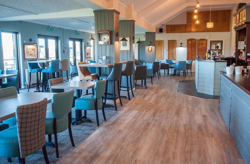 Dawlish Warren Golf Club bar and seating area