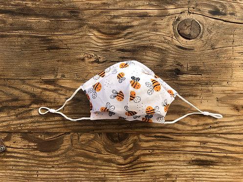 ADULT ICONIC28 Orange Bee's Cotton Face Mask