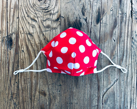 KIDS SMALL Red Polka Dots