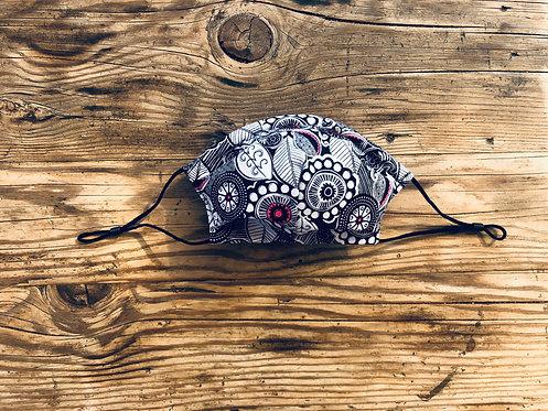 ADULT ICONIC28 Mandala Flowers Cotton Face Mask