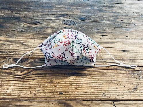 ADULT ICONIC28 Rainbow Kitties Cotton Face Mask