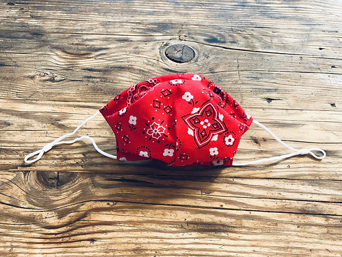 ADULT ICONIC28 Red Bandana Cotton Face Mask