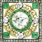 Faberge emerald and diamond