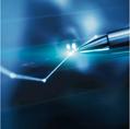 Blue pen for brochure and website