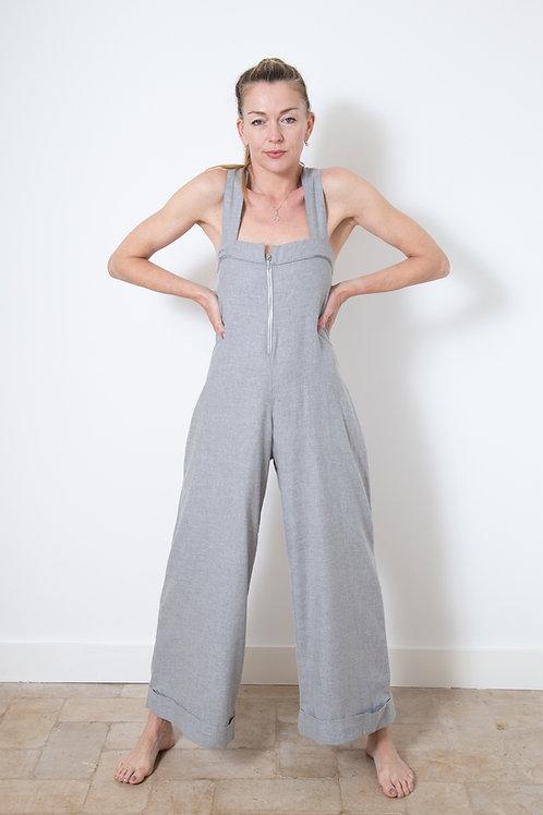 Pierrot Jumpsuit - Grey