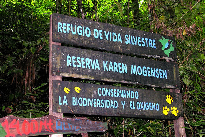 Sign for Karen Mogensen Reserve