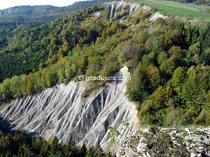 Foncine le haut - Lookout of the Roche Fendue - Rental of cottages for holidays in the High-Jura mountains