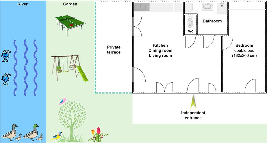 Gite 1805 Bis - Interior plan, river, garden, ping pong, swing, spa sauna - High-Jura mountain vacation rental