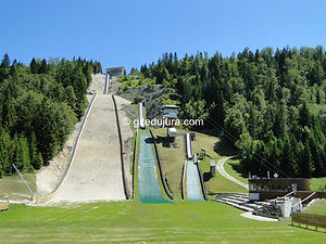 Chaux-Neuve - Tremplins de saut à ski - Location de gîtes vacances en montagne Haut-Jura