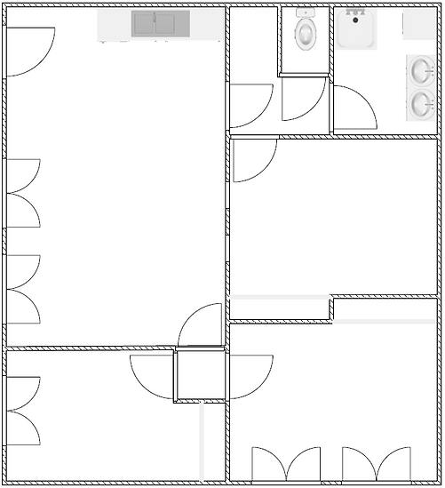 Gite 295 - Interior plan - Rental of cottages for holidays in the High-Jura mountains