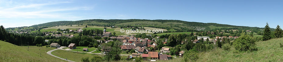 Foncine le haut - Panorama - Rental of cottages for holidays in the High-Jura mountains
