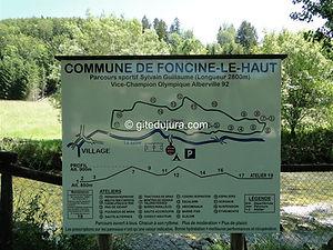 Foncine le haut - Parcours sportif/santé Sylvain Guillaume - Location de gîtes vacances en montagne Haut-Jura
