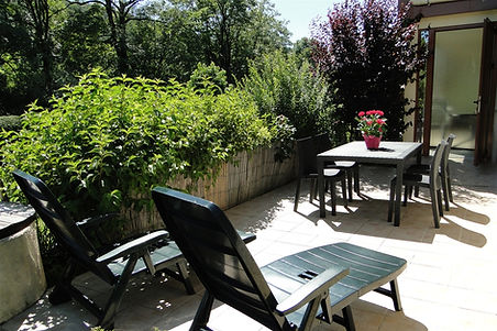 Gite 829 - Terrace - Rental of cottages for holidays in the High-Jura mountains
