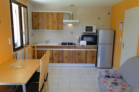 Gite 1805 - Kitchen, Dining room, Living room - Rental of cottages for holidays in the High-Jura mountains