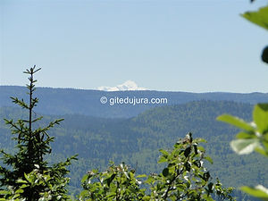 Foncine le haut - Lookout of Bulay- View of Mont Blanc - Rental of cottages for holidays in the High-Jura mountains
