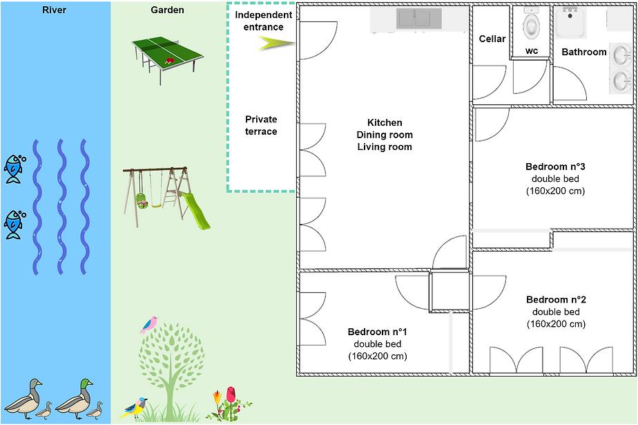 Gite 295 - Interior plan, river, garden, ping pong, swing, spa sauna - High-Jura mountain vacation rental