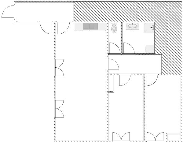 Gite 829 - Interior plan - Rental of cottages for holidays in the High-Jura mountains