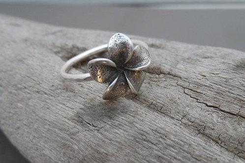 Sterling Silver Plumeria Flower Ring
