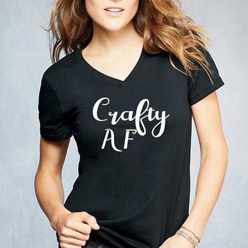 Crafty AF V Neck Shirt