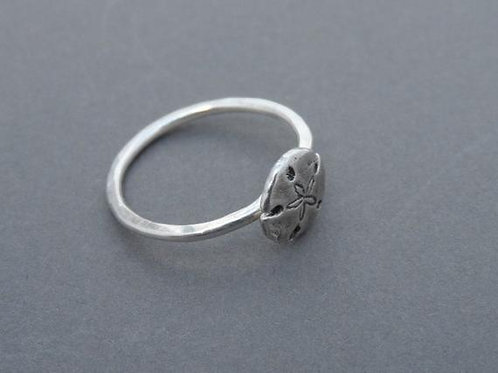 Sterling Silver Mini Sand Dollar Ring