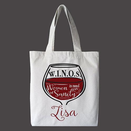 WINOS Personalized Tote Bag, Custom Bag