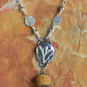 Aromatica-Necklace-on-Umber-Sterling-Sil