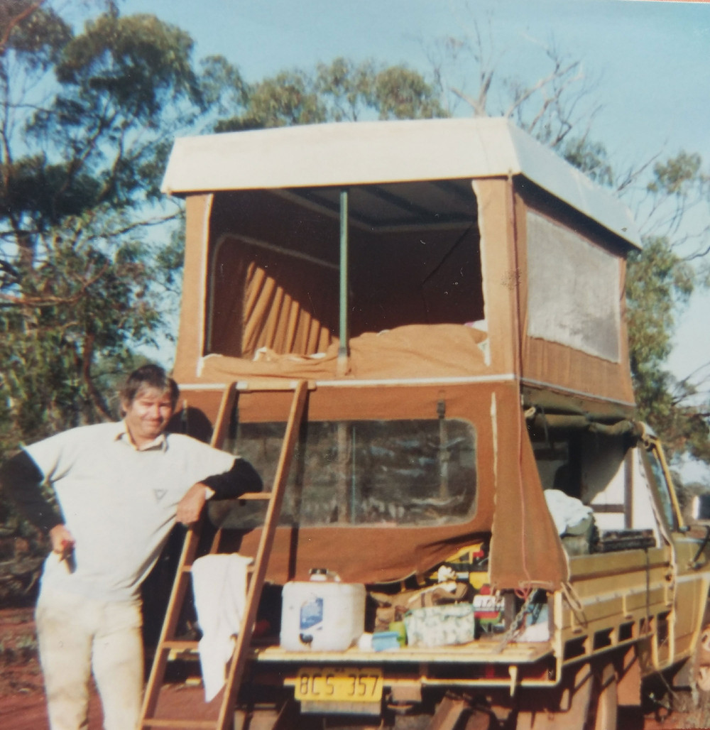 My Dad with his trusty truck which carried everything we needed and room for my inevitable rock collections!