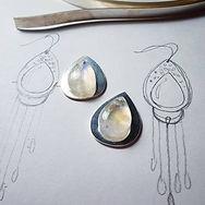 Creating Sterling Silver Moonstone earri