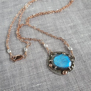 Rose Gold Blue Labradorite Custom Neckla