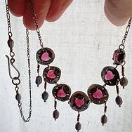 Viking Garnet Love necklace by Luminous