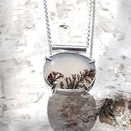 Dendritic Agate in Sterling Silver by Lu