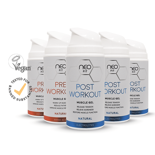 NEOFIT POST WORKOUT GEL x3 & PRE WORKOUT GEL x2, 100ml