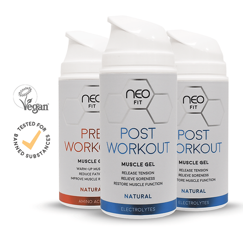 NEOFIT POST WORKOUT GEL x2 & PRE WORKOUT GEL x1, 100ml