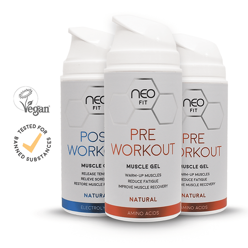 NEOFIT PRE WORKOUT GEL x2 & POST WORKOUT GEL x1, 100ml