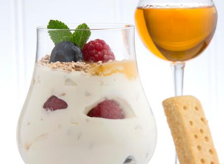 """Cranachan, du livre : """"à table, le whisky du verre à l'assiette"""" de Martine Nouet"""