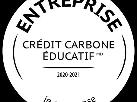 Notre engagement avec le programme Carbone Scol'ERE