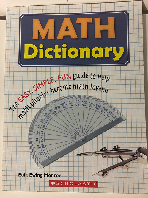 Math Dictionary by Eula Ewing Monroe