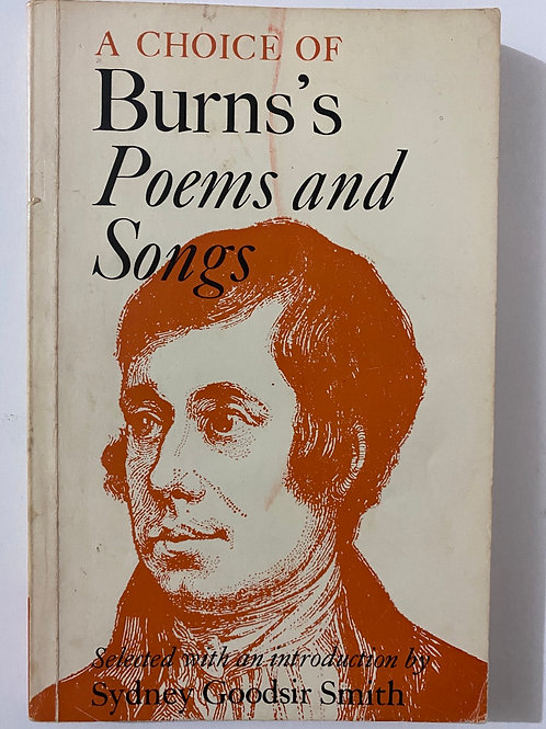 A Choice of Burns's Poems and Songs by Sydney Goodsir Smith
