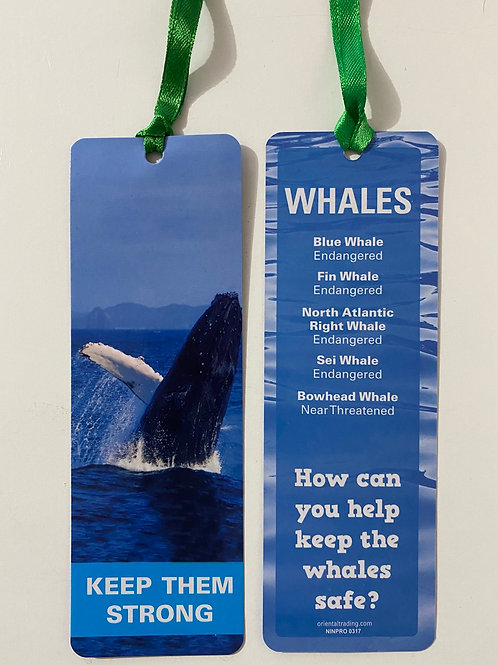 Whales Bookmark / Page Saver