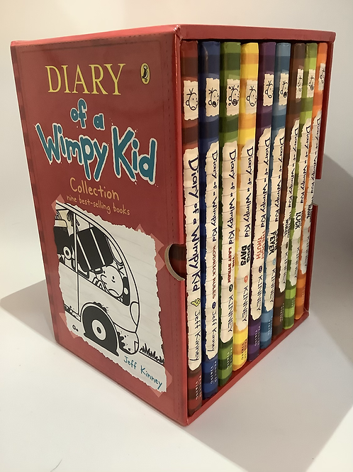 Diary of a Wimpy Kid Boxed Set 1-9 by Jeff Kinney