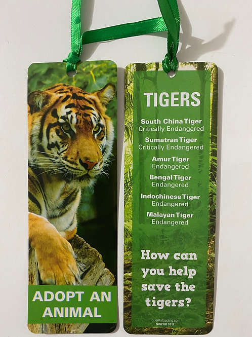 Tigers Bookmark / Page Saver
