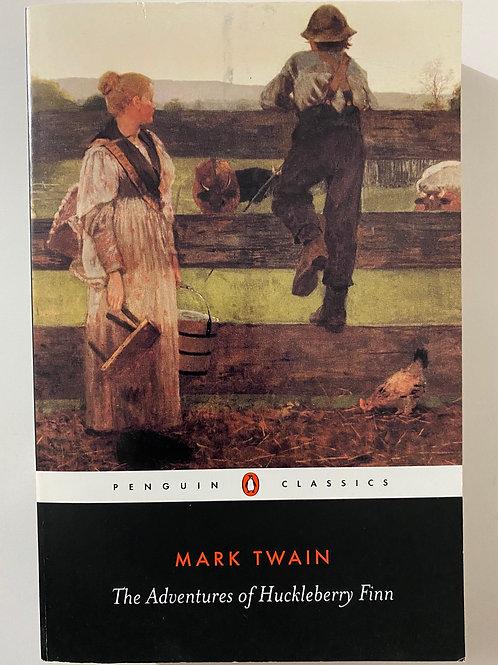 The Adventures of Hucklebery Finn by Mark Twain