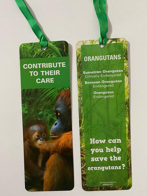 Orangutans Bookmark / Page Saver